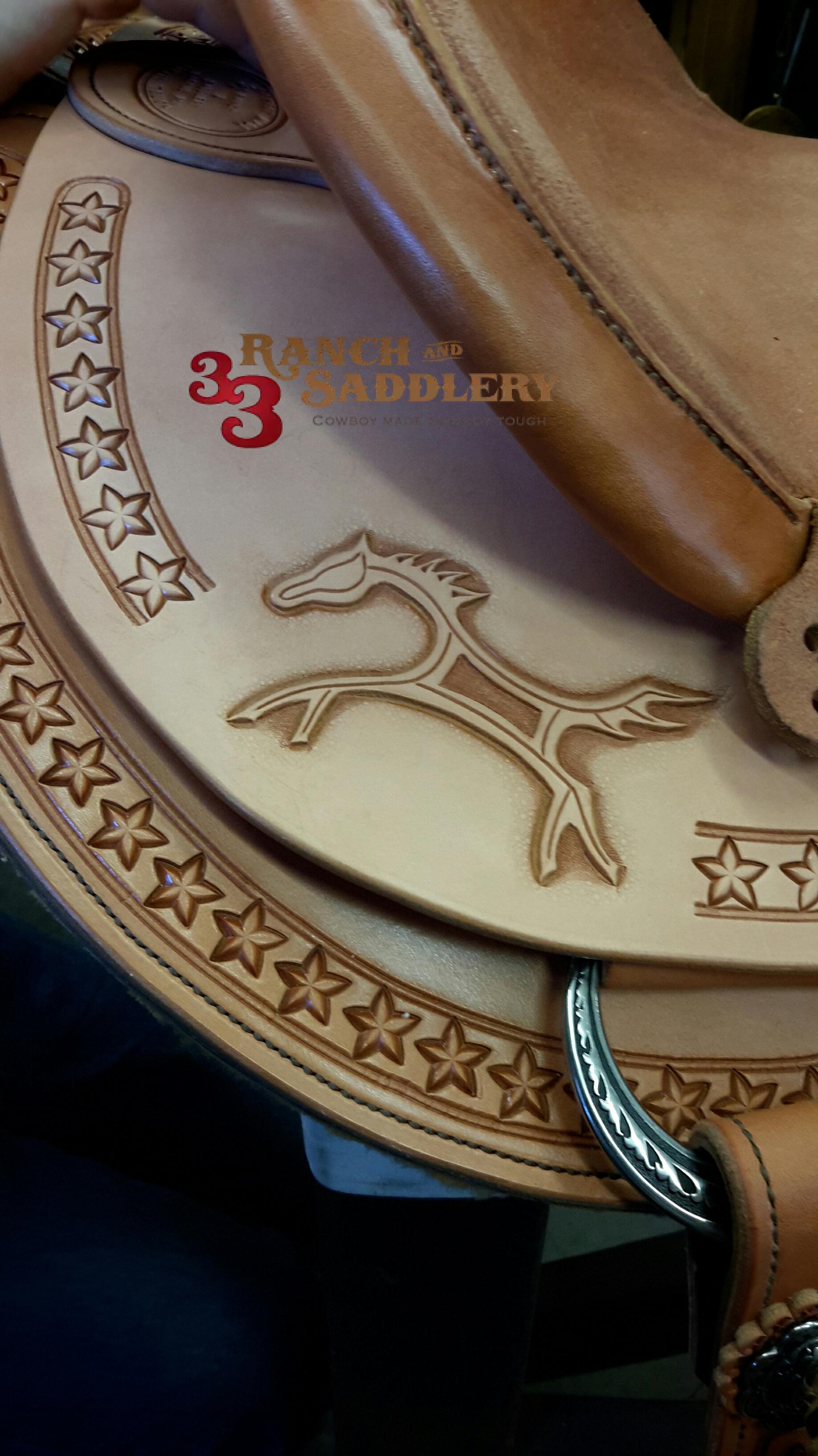 Custom Saddle Lonnie Detail