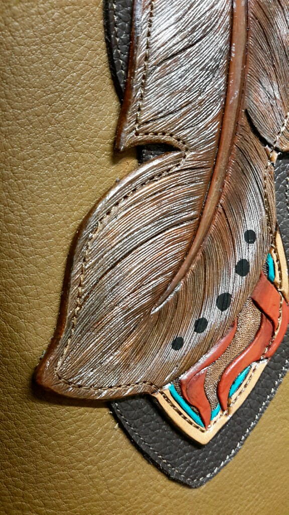 Feather Tooling Detail