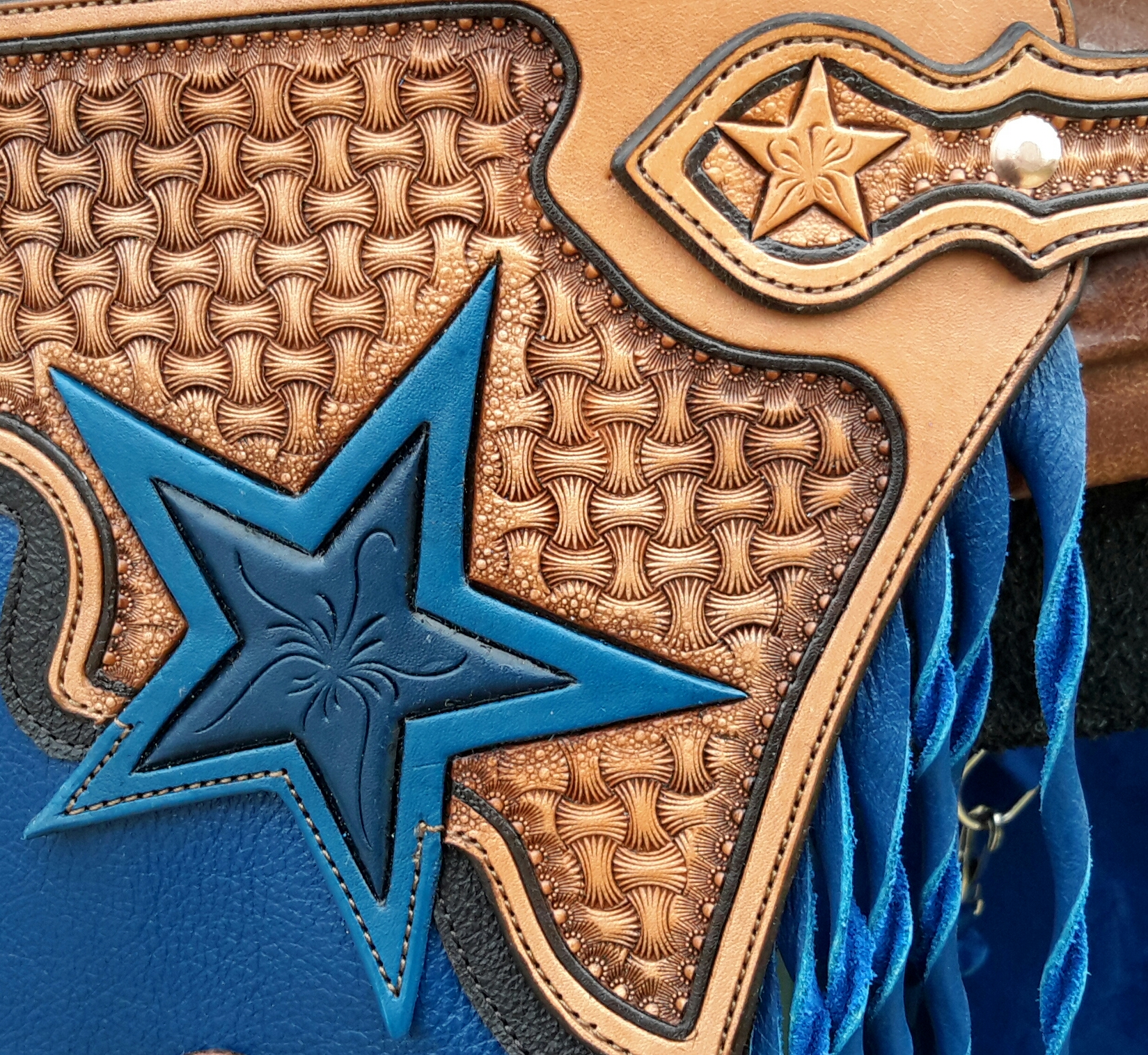Patriotic Custom Chinks - Belt