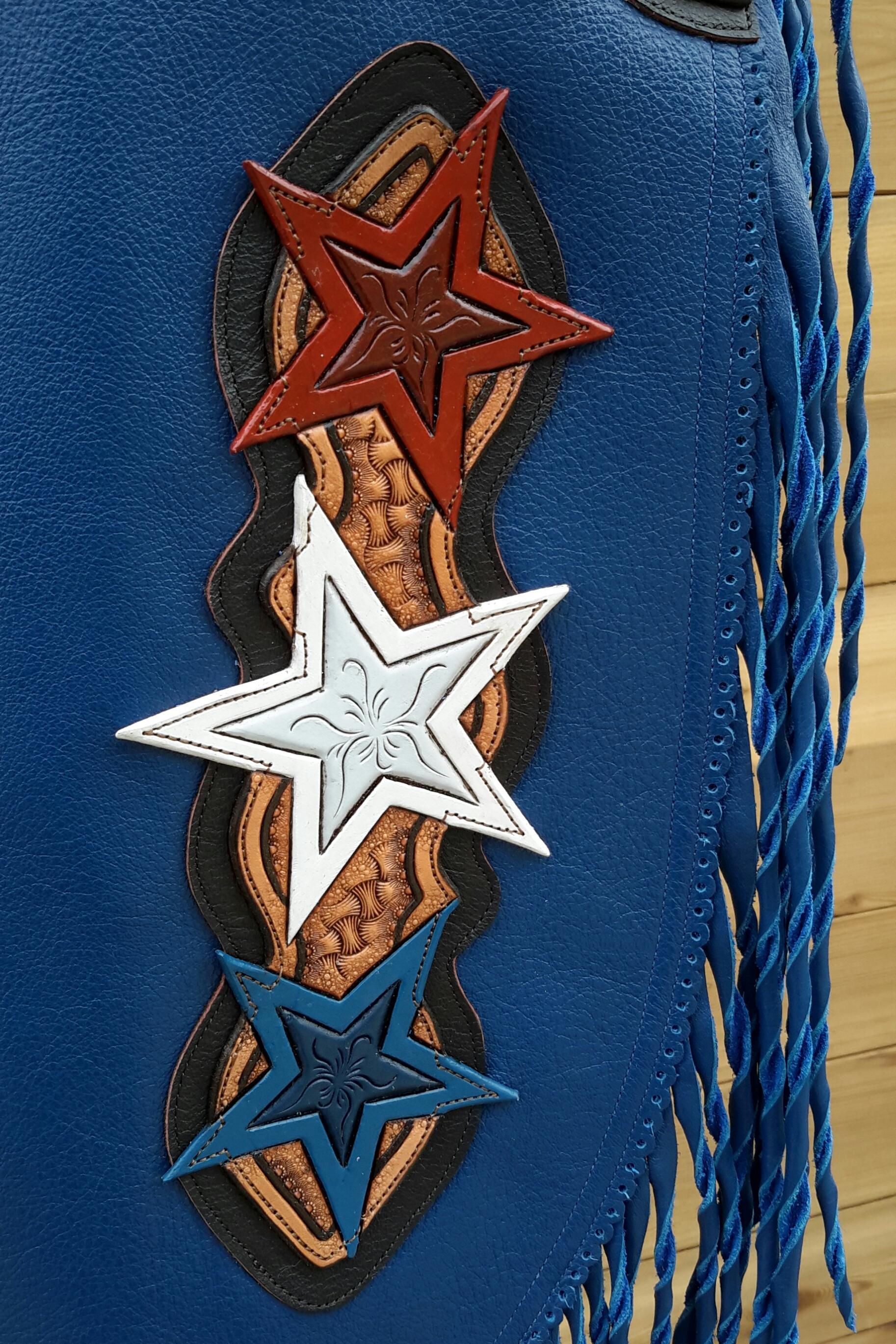 Patriotic Custom Chinks - Leg Plate