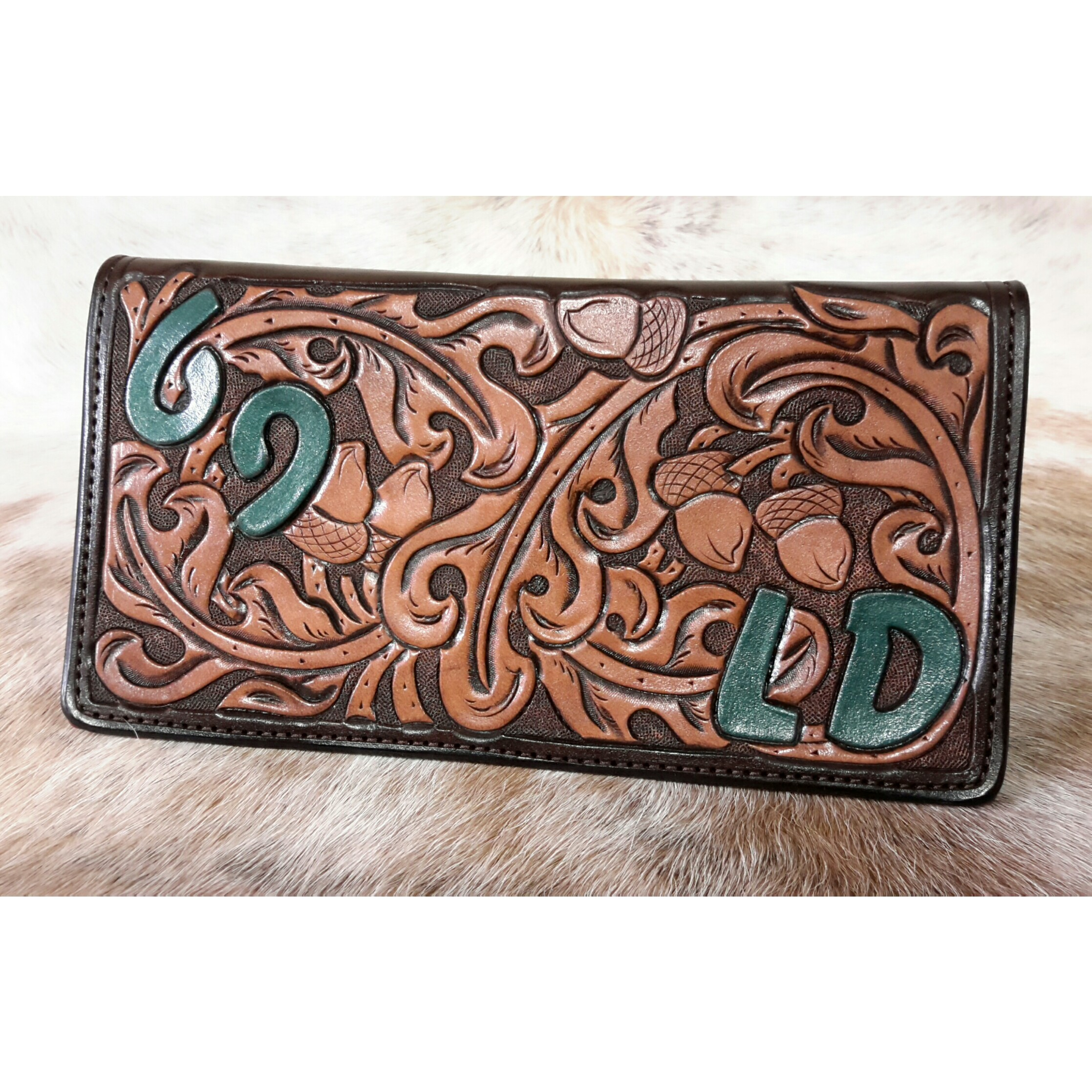 Custom Leather Checkbook Cover