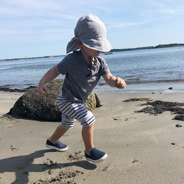 Baby on a mission! This is #MaineLife, and we love it! ☀️⛱ 🌊 🏕 #Maine #TheWayLifeShouldBe #mainers #onemorninginmaine #mylittlerunner #cascobay #exploreeverything #summer #welovemaine #portlandmaine #mondayvibes #vacationmode