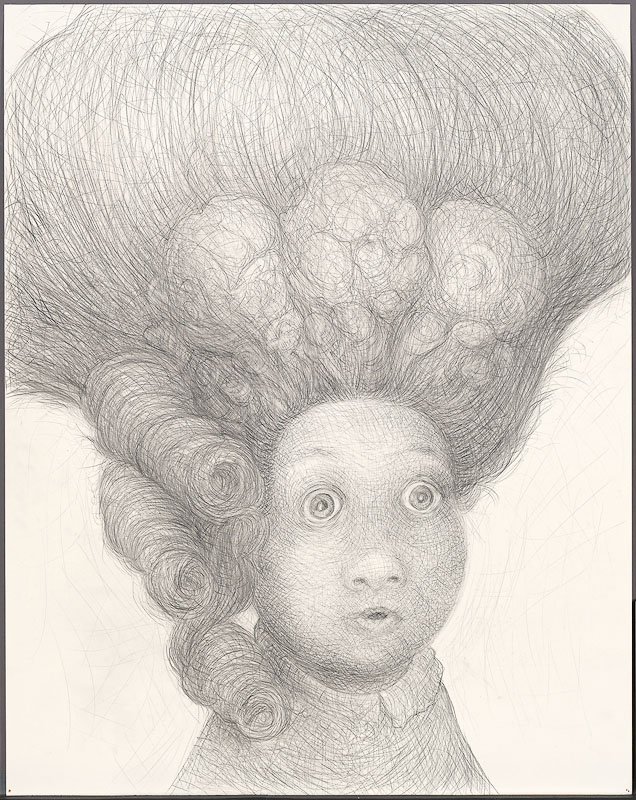 Surprised,  2009: graphite on paper, 38 x 26 inches
