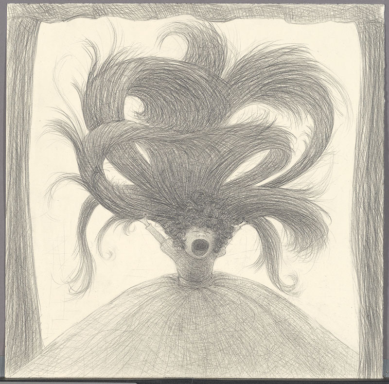 The sleep of reason 1 , 2009: graphite on paper, 10 x 10 inches