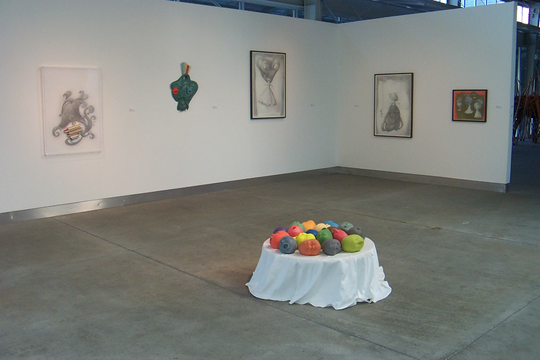 Installation view,  After the Age of Reason  exhibition atdi Rosa, 2008