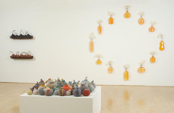 Installation of  Bombast  exhibition at John Berggruen Gallery, March 2003. Foreground:  Bomboozled.