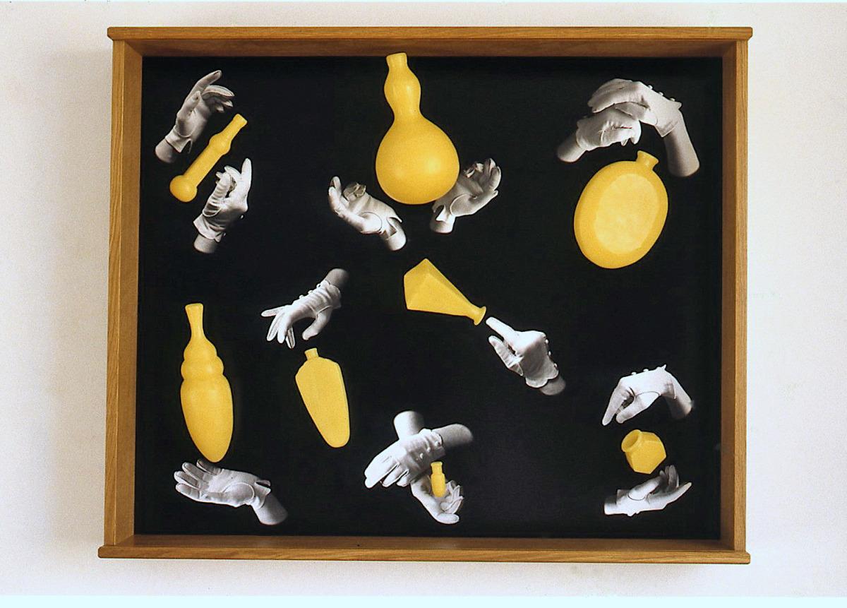 Miraculous vessels, 2000: wax, wood,digital C-print, 29 x 35 x 6 1/2 inches
