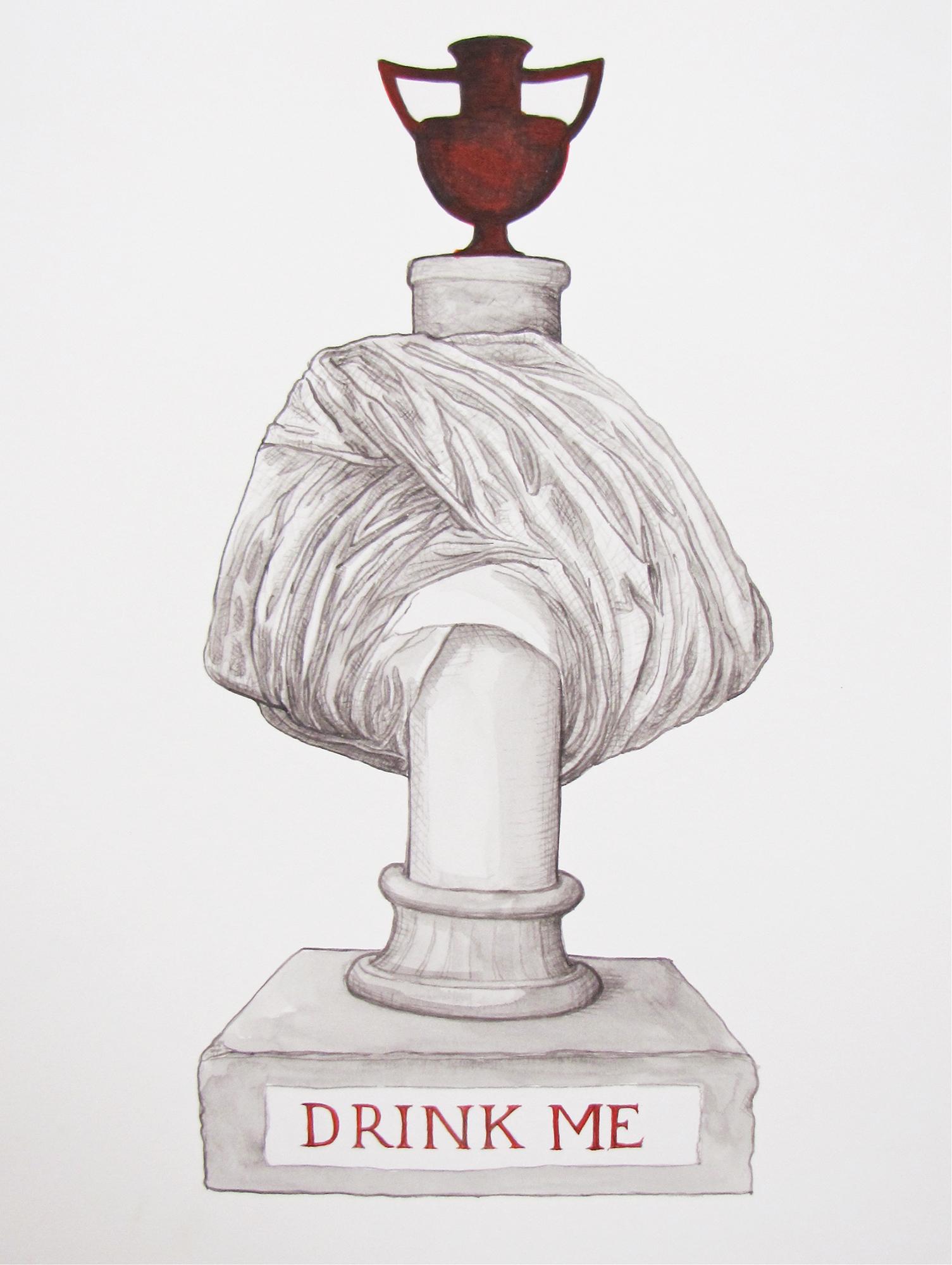 Bust/obelisk II (Drink me) 2012