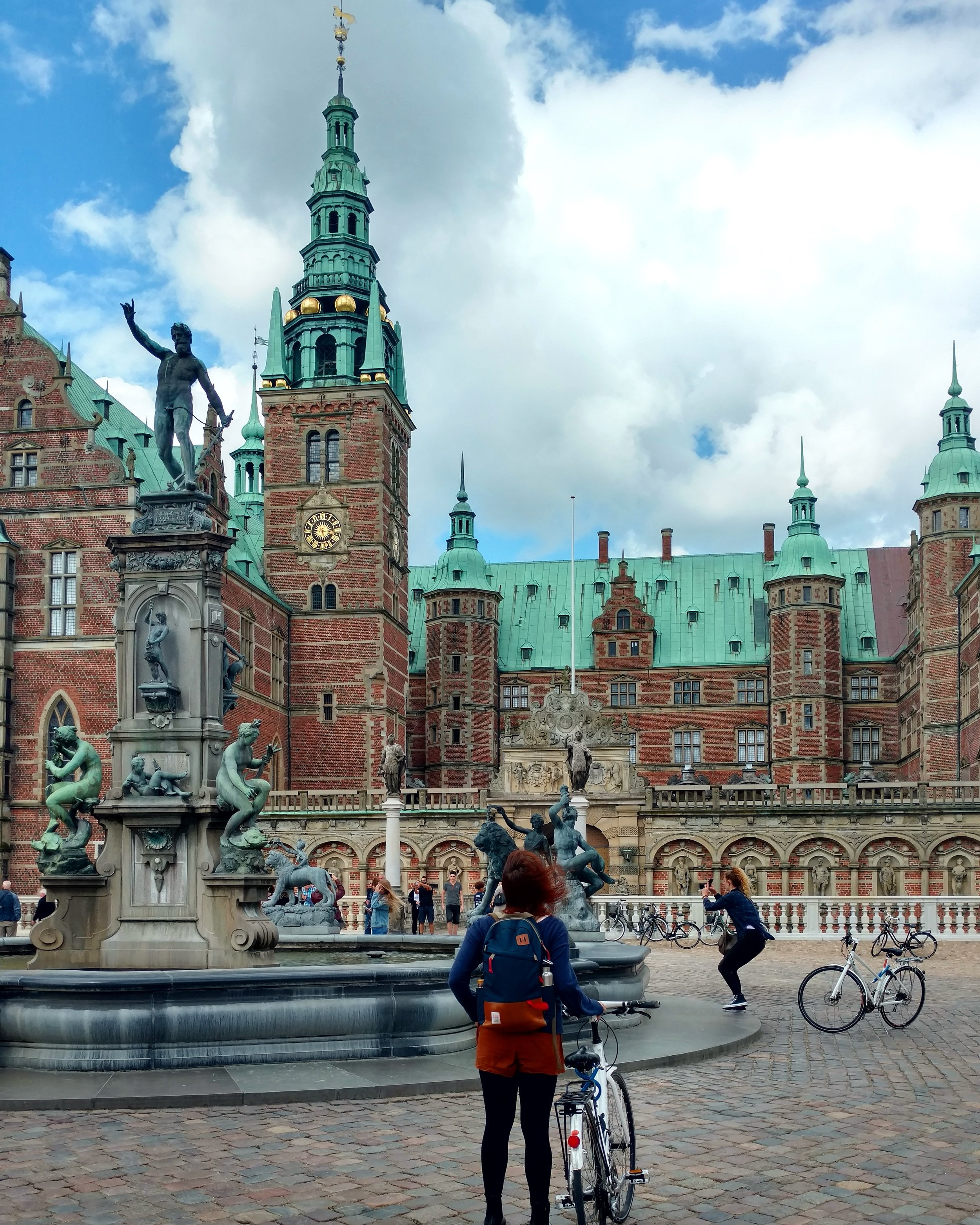 Me and my bike in front of Frederiksborg Castle