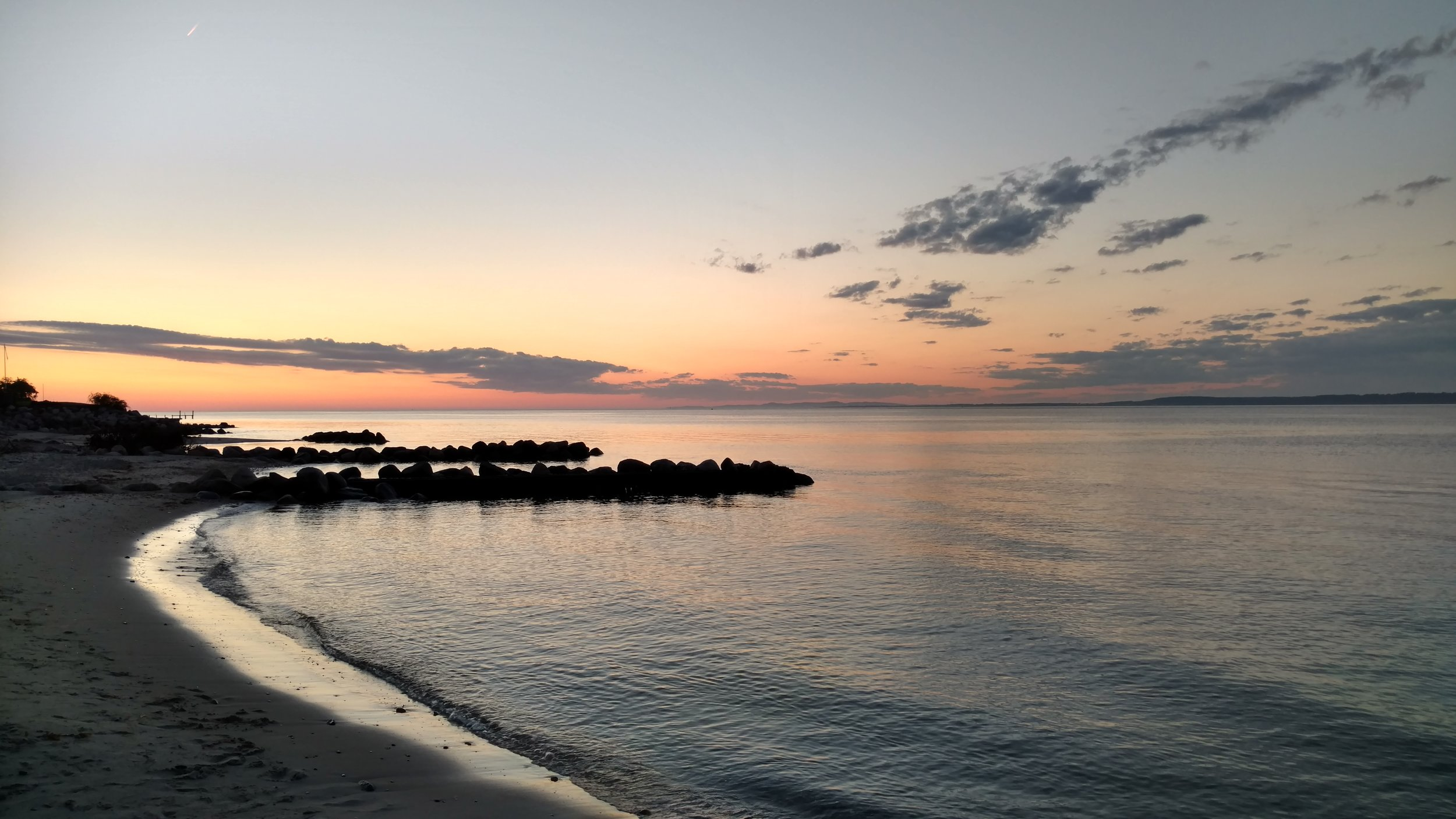 Sunsets in Helsingor on the northern coast of Denmark