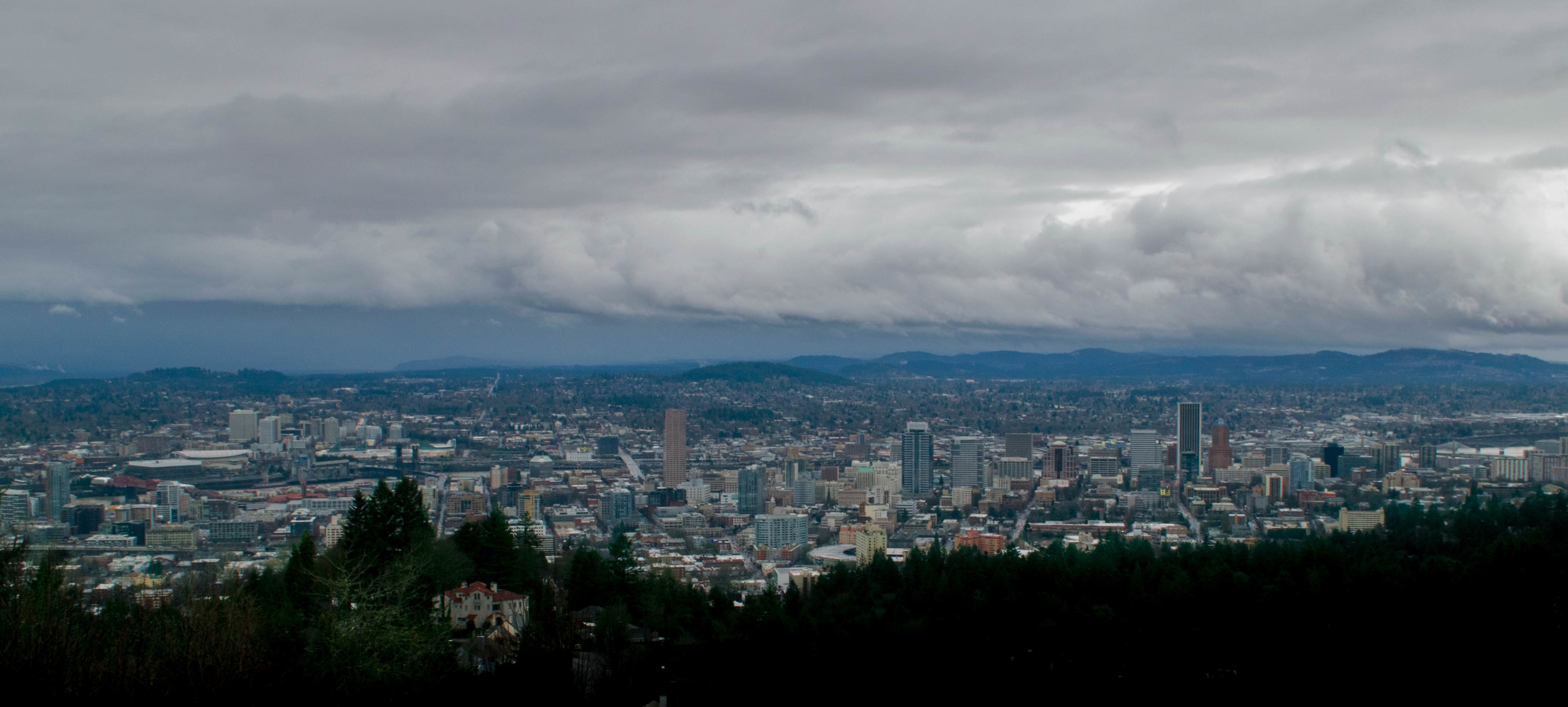Wide angle from Pittock Mansion | Portland, OR