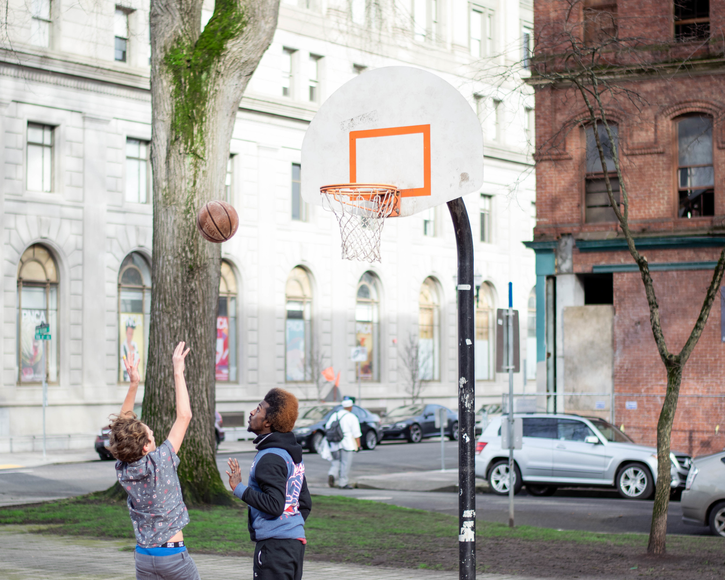 Shooting hoops - future Blazer | Portland, OR