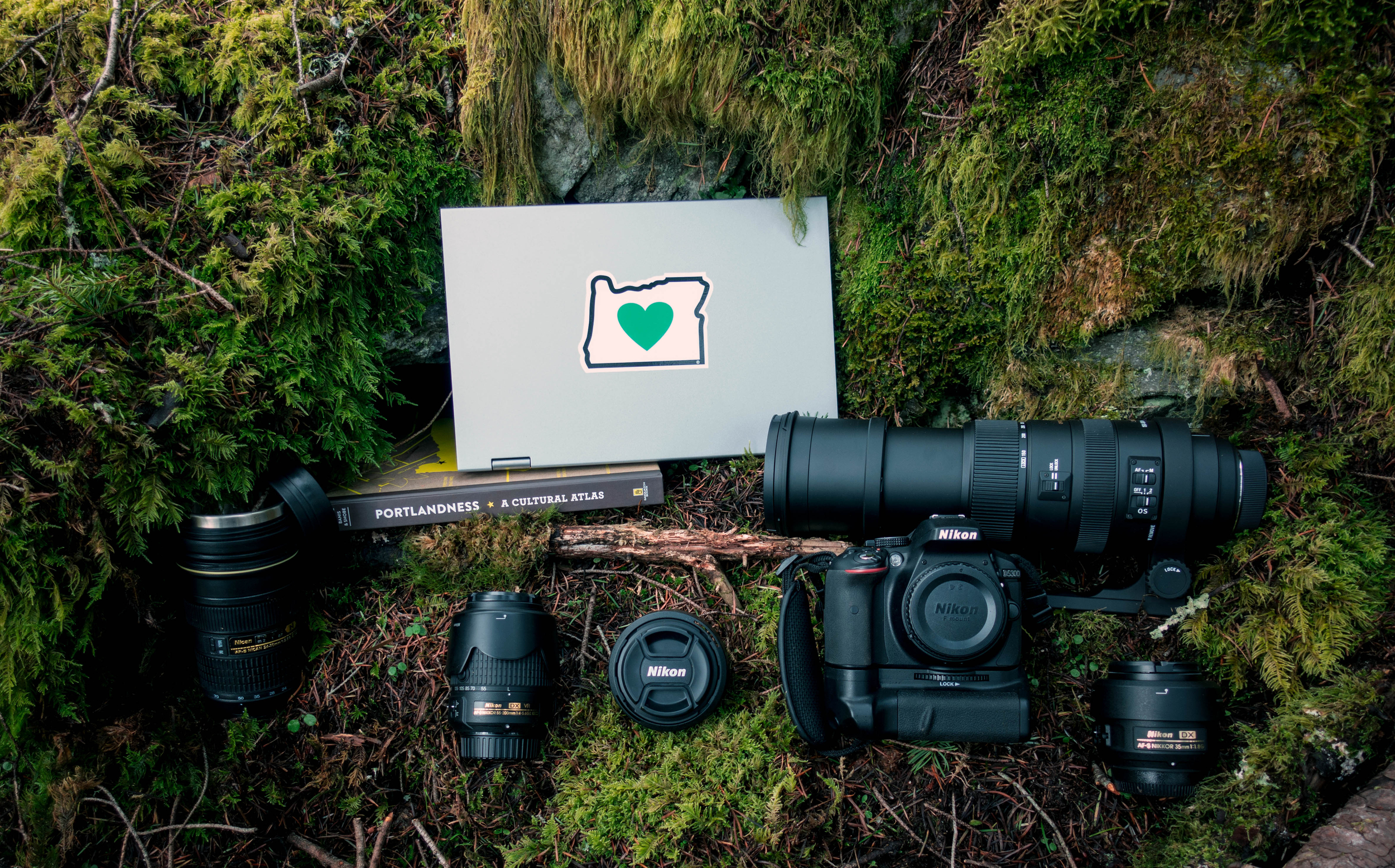 My camera bag | Wind Mountain, WA
