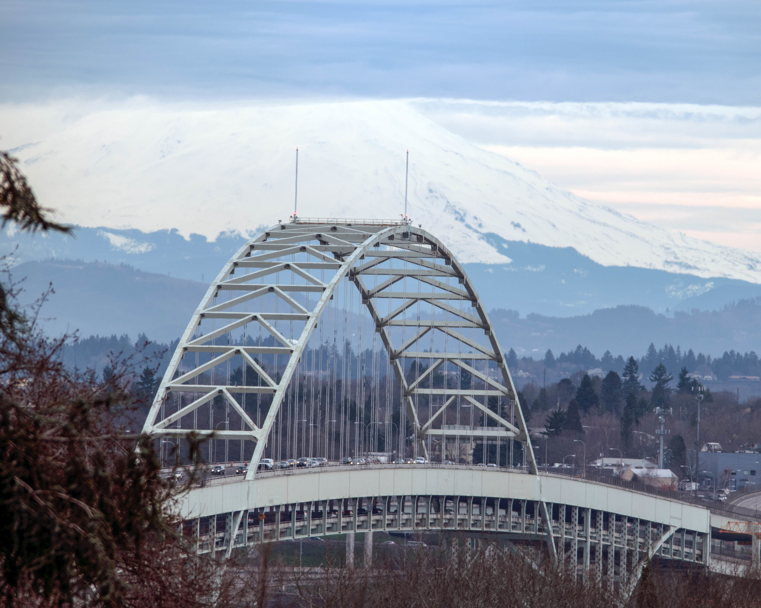 Fremont Bridge + Mt. St. Helens | Portland, OR