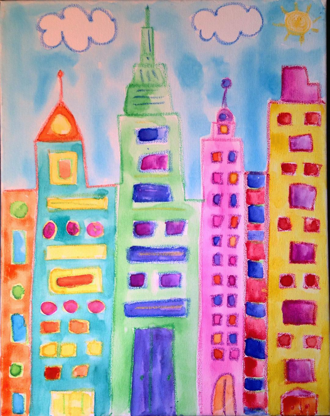 City (Watercolor)