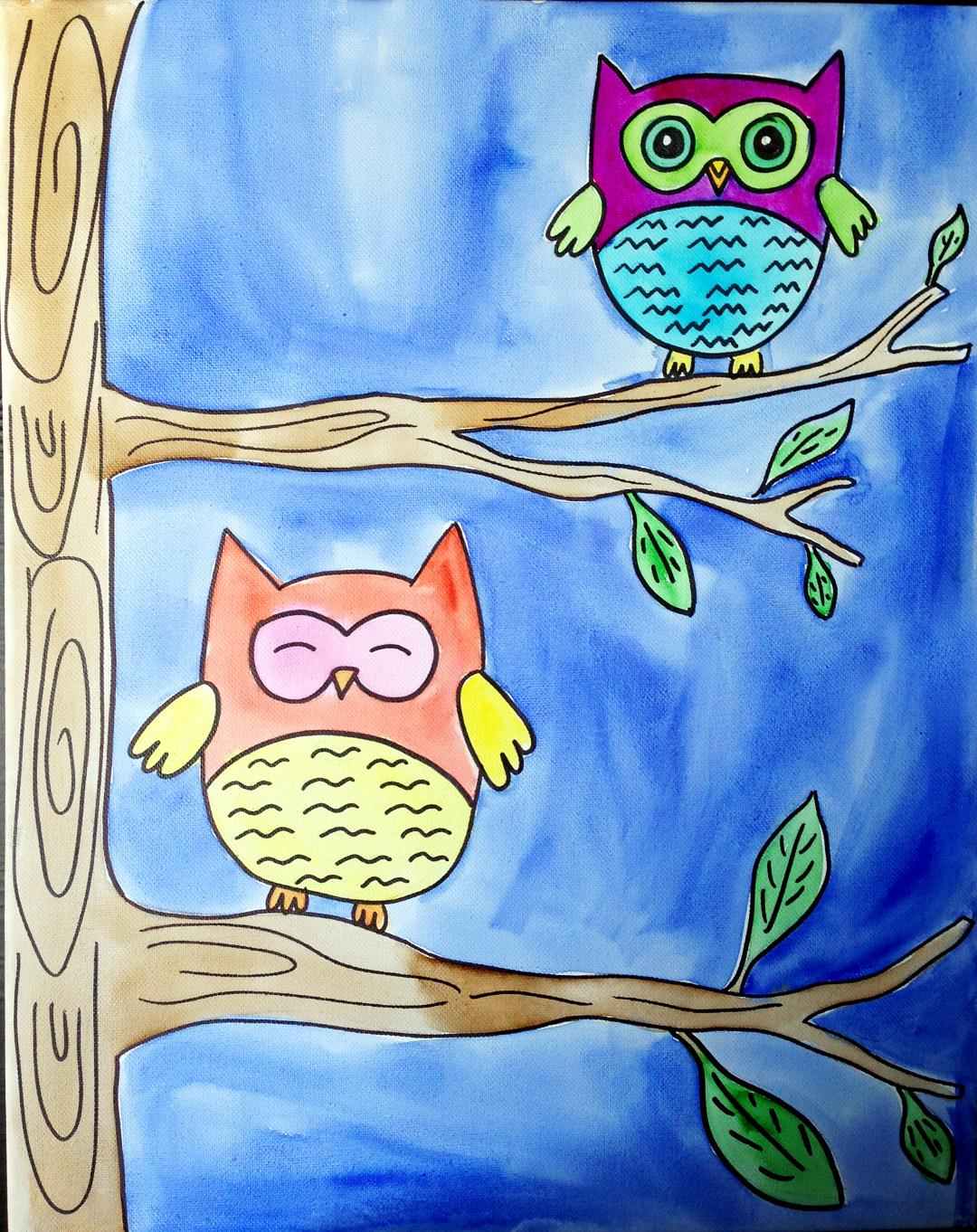 Owls (Watercolor)