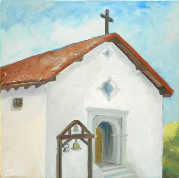 """Mission San Rafael""  20"" x 20""  Oil on Canvas"