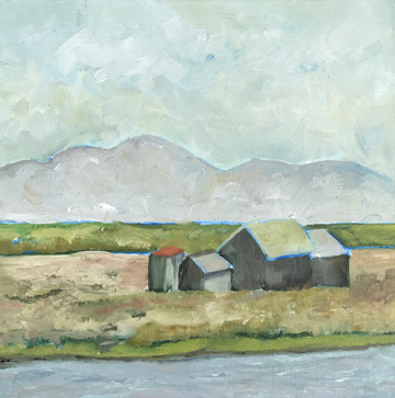 """River Shacks""  12' x 12""  Oil on Linen"