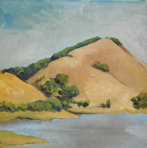 """Hot Hills""  20"" x 20""  Oil on Canvas"