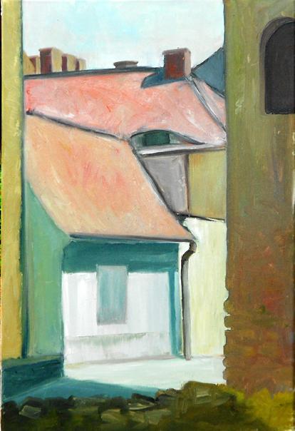 """""""Blacksmith Alley""""  16"""" x 24""""  Oil on Canvas"""