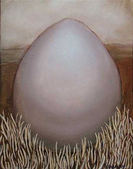 """Black Point Egg""  11"" x 14""  Oil on Canvas"