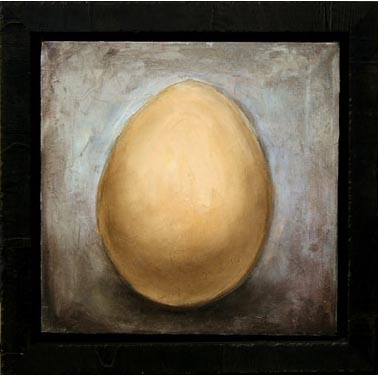 """""""Egg"""" (SOLD) 17"""" x 17""""  Oil on Linen - Framed"""