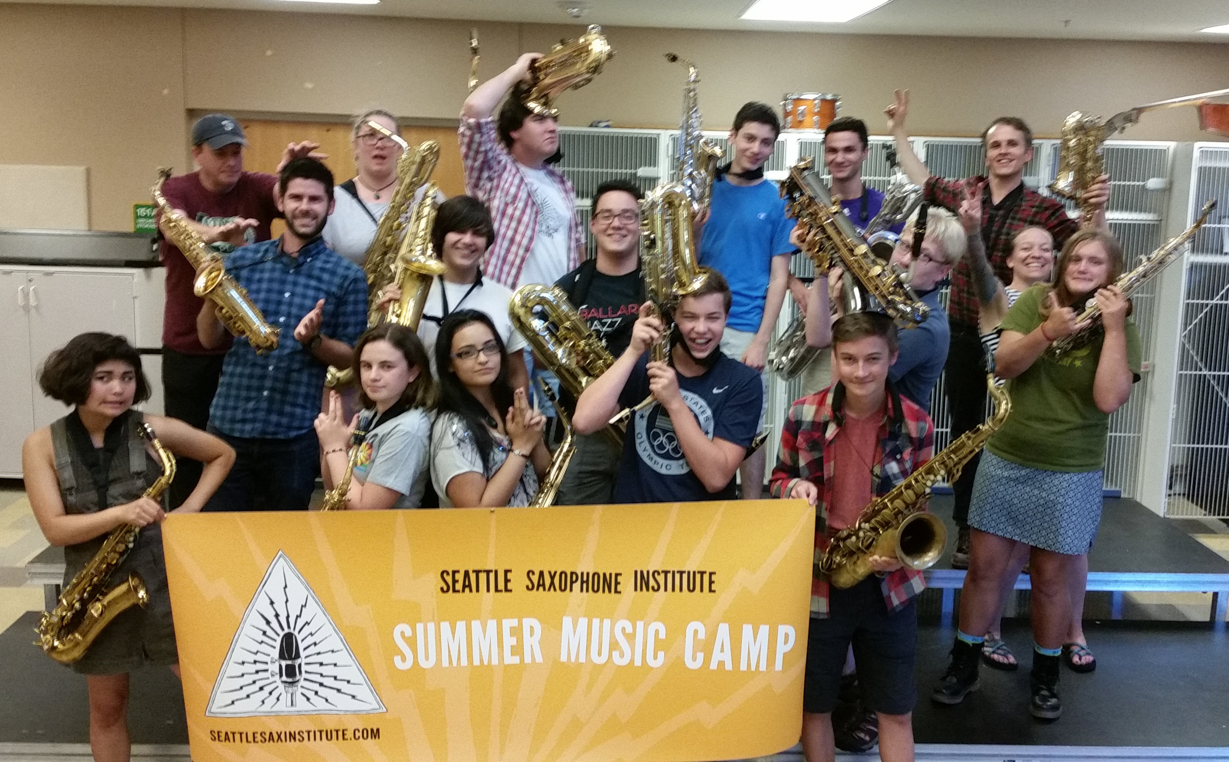 Our final day of camp at the 2016 Seattle Saxophone Institute High School session!