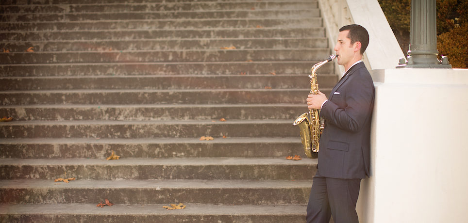 Saxophonist Erik Steighner performs as an award-winning modern classical saxophone soloist, in addition to work in chamber ensembles and orchestras across the country