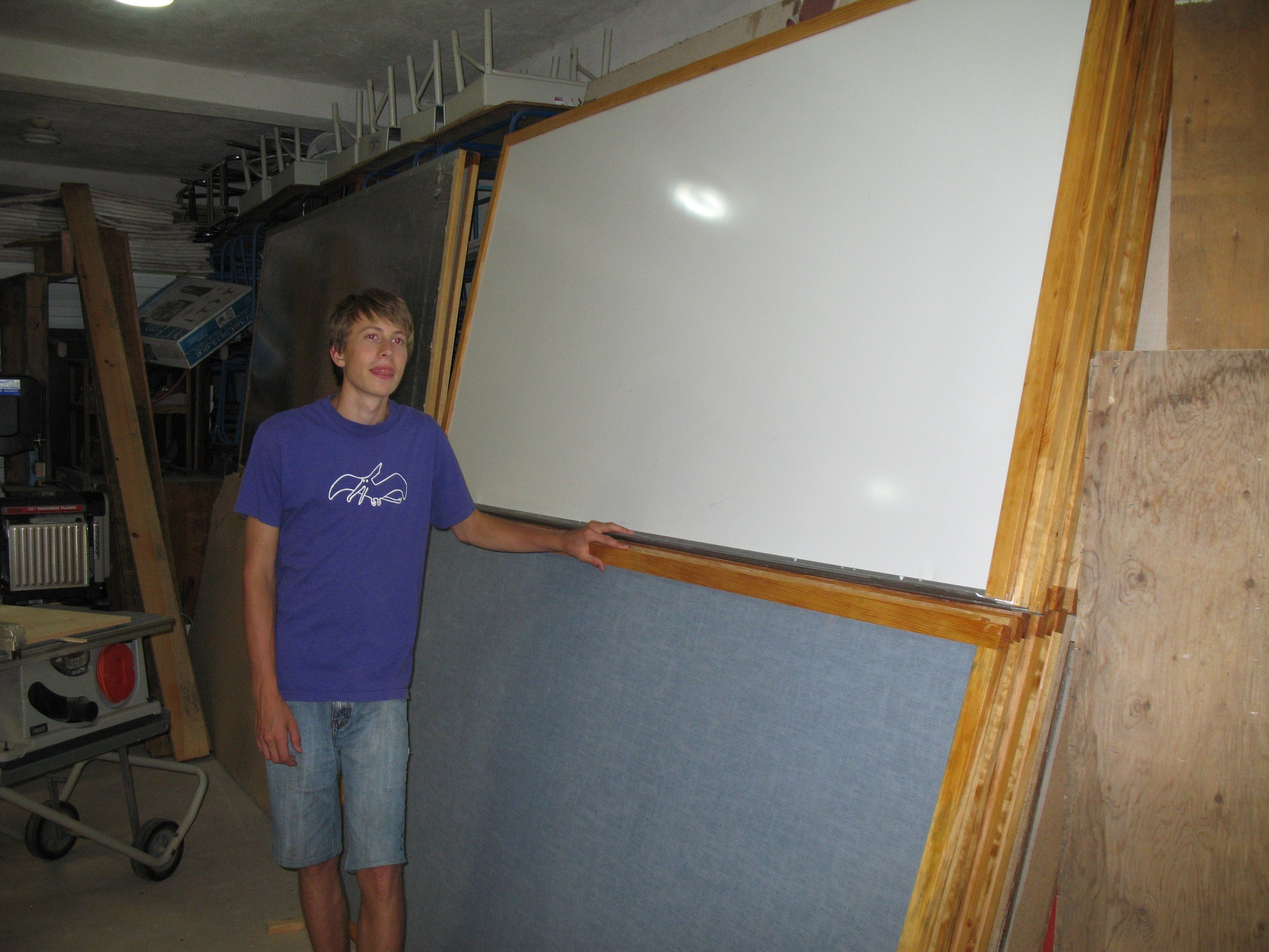 New frames for dozens of white boards and tack boards