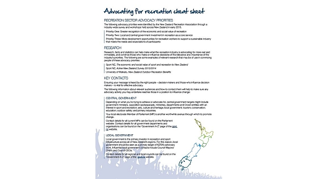 Advocacy cheat sheet - An advocacy cheat sheet was developed to help other like-minded organisations to effectively engage in advocacy and to support the common cause.