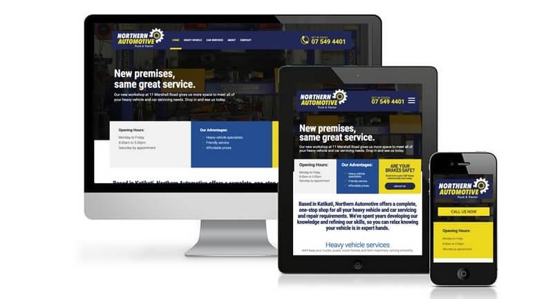 Caption: Northern Automotive website