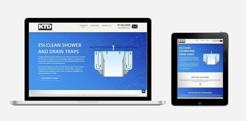 Caption: Esi-Clean Waste Trap website