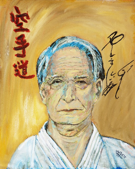 Portait of Sensei Nishiyama painted by Sensei Mike Whiteside, May 2009