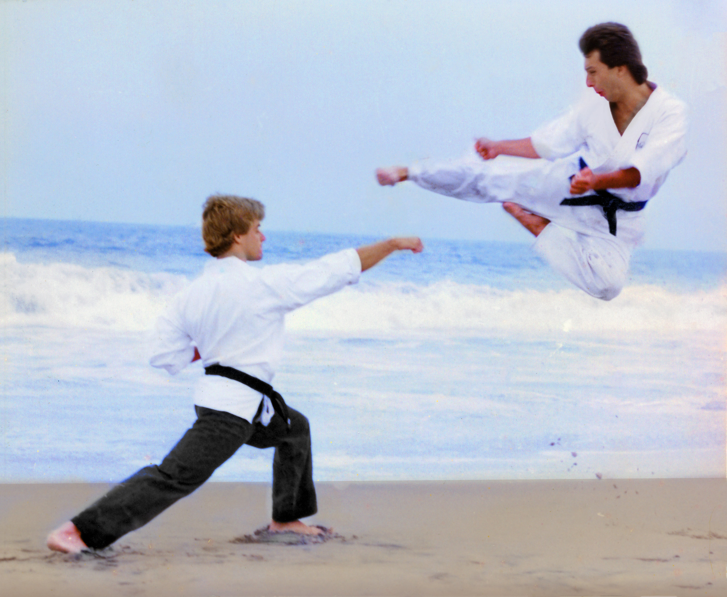 Ty Flying Side kick beach w - John Caldwell.jpg