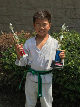 Ian Li  - Green belt - 3rd place kata & 2nd place kumite