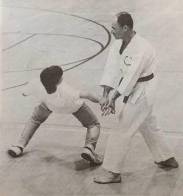 My father (Shihan Arthur Michelson, 8 dan) demonstrating the flexibility I was learning in Doshinkan Karatedo
