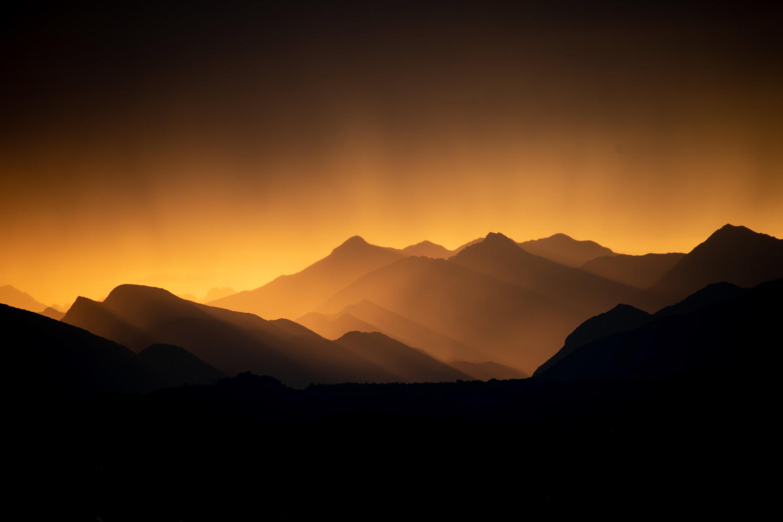 Range of Light (Sunset Rain)