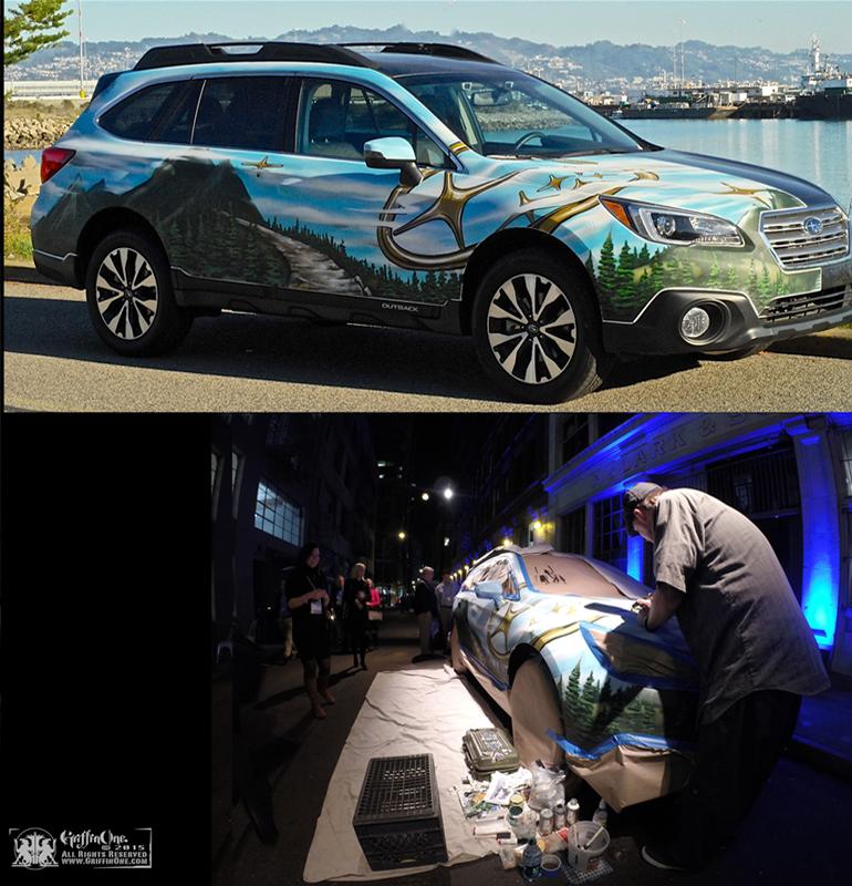 """Live Art - Subaru Outback!"""