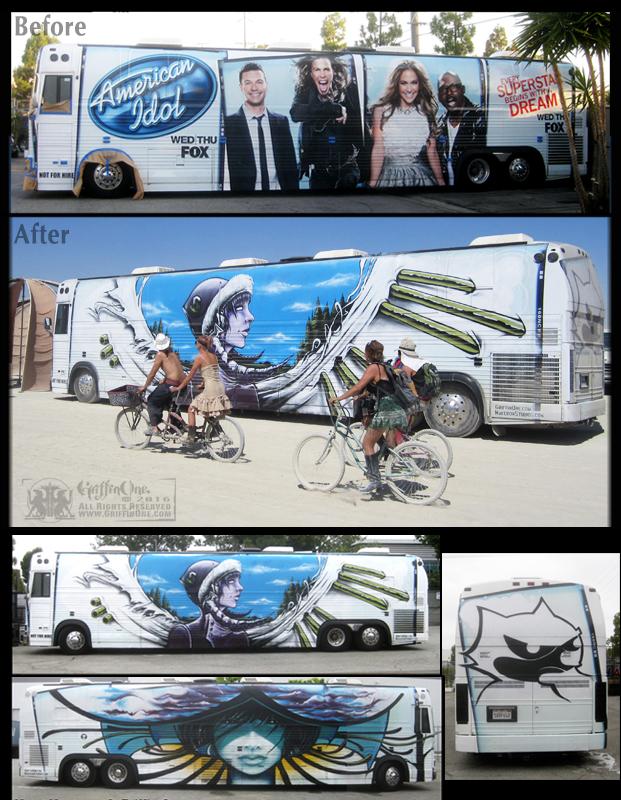 """""""Felix Lighting Bus"""" - American Idol Tour Bus"""""""