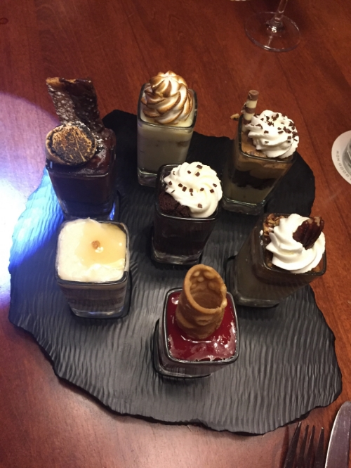 From top left-S'mores, Carrot Cake, Mocha, Pecan Pie, Raspberry Cannoli, Key Lime Pie, and Chocolate Raspberry Ganache