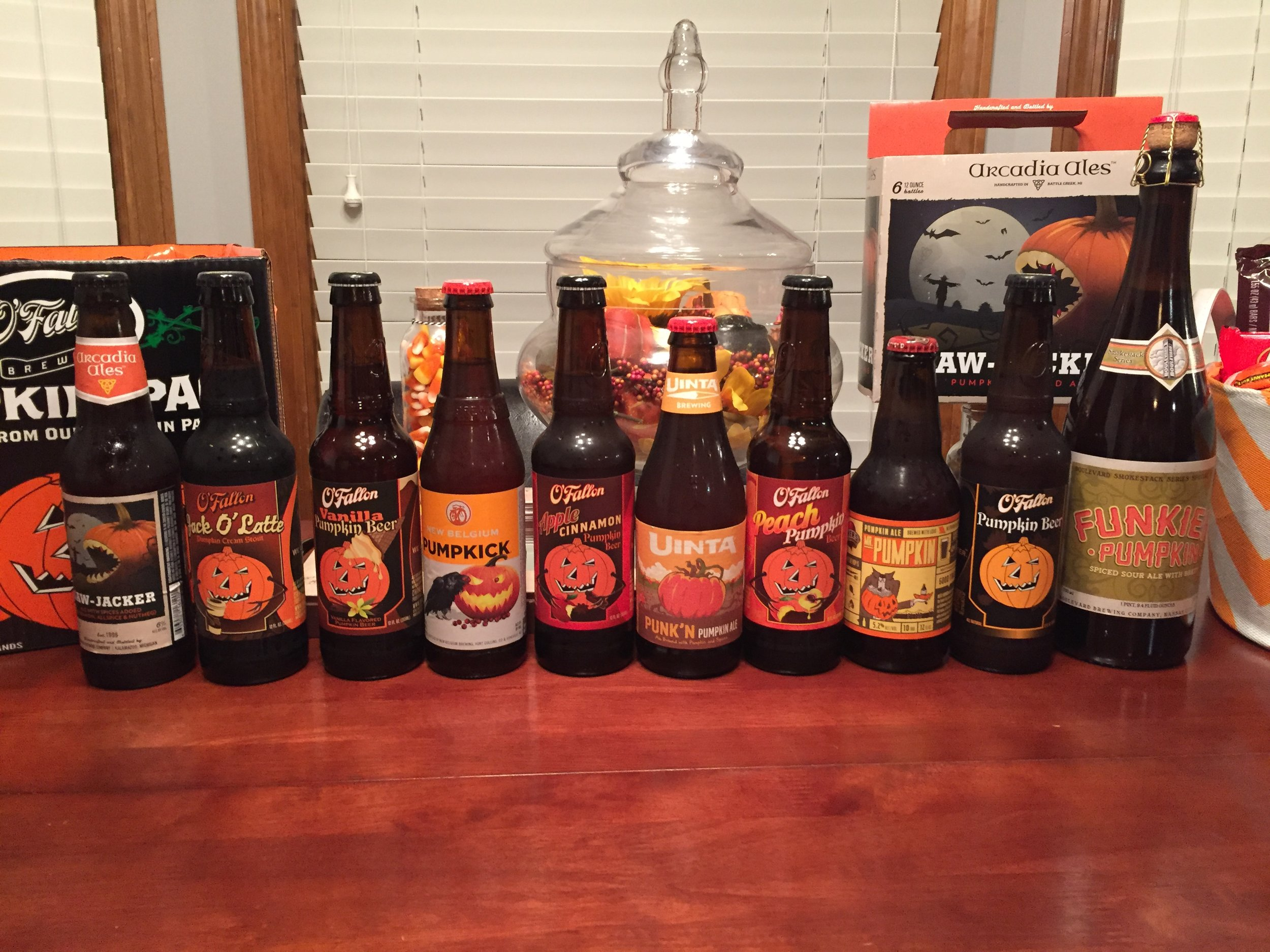 10 pumpkin beers....which would come out on top??
