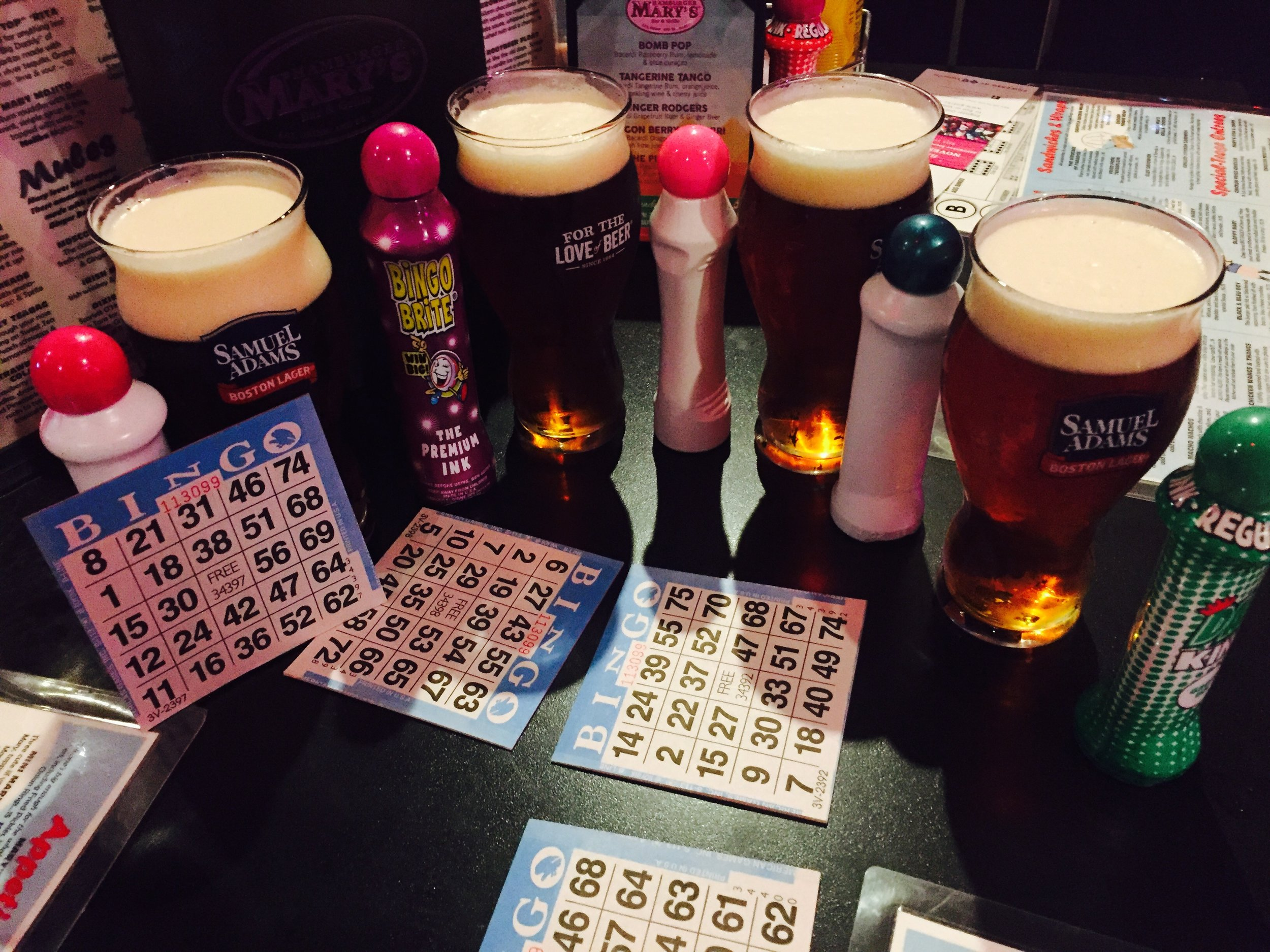 Beers + Drag Bingo = a great Wednesday night!