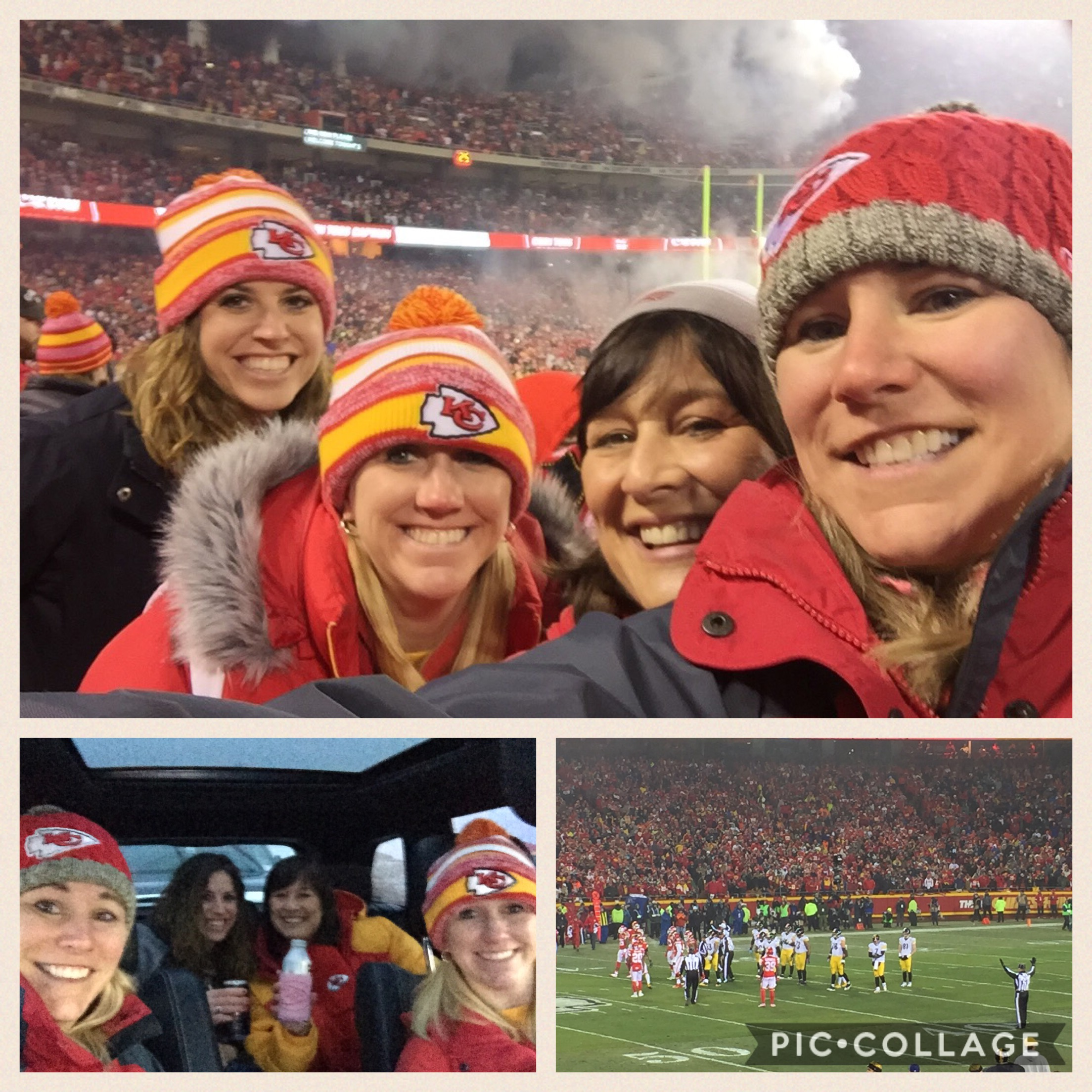 Nicole joined Steph, Leslie and Krist for the big game! 🏈❤️🏈