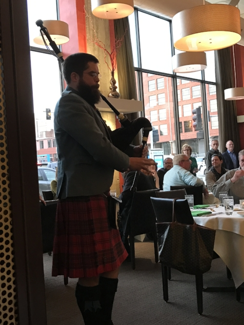 Professional bagpiper, we got his number if you are looking to schedule an event.  Just comment below!