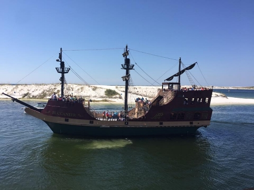 Not the boat we took, but an awesome pirate ship!!!