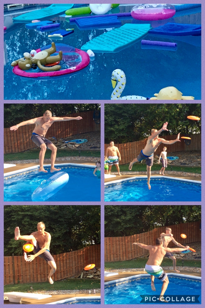 Billy and Paul doing all the diving board tricks