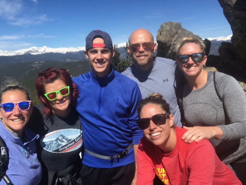 Colorado hiking for Leslie's birthday - Chief Mountain ain't got nothing on us!