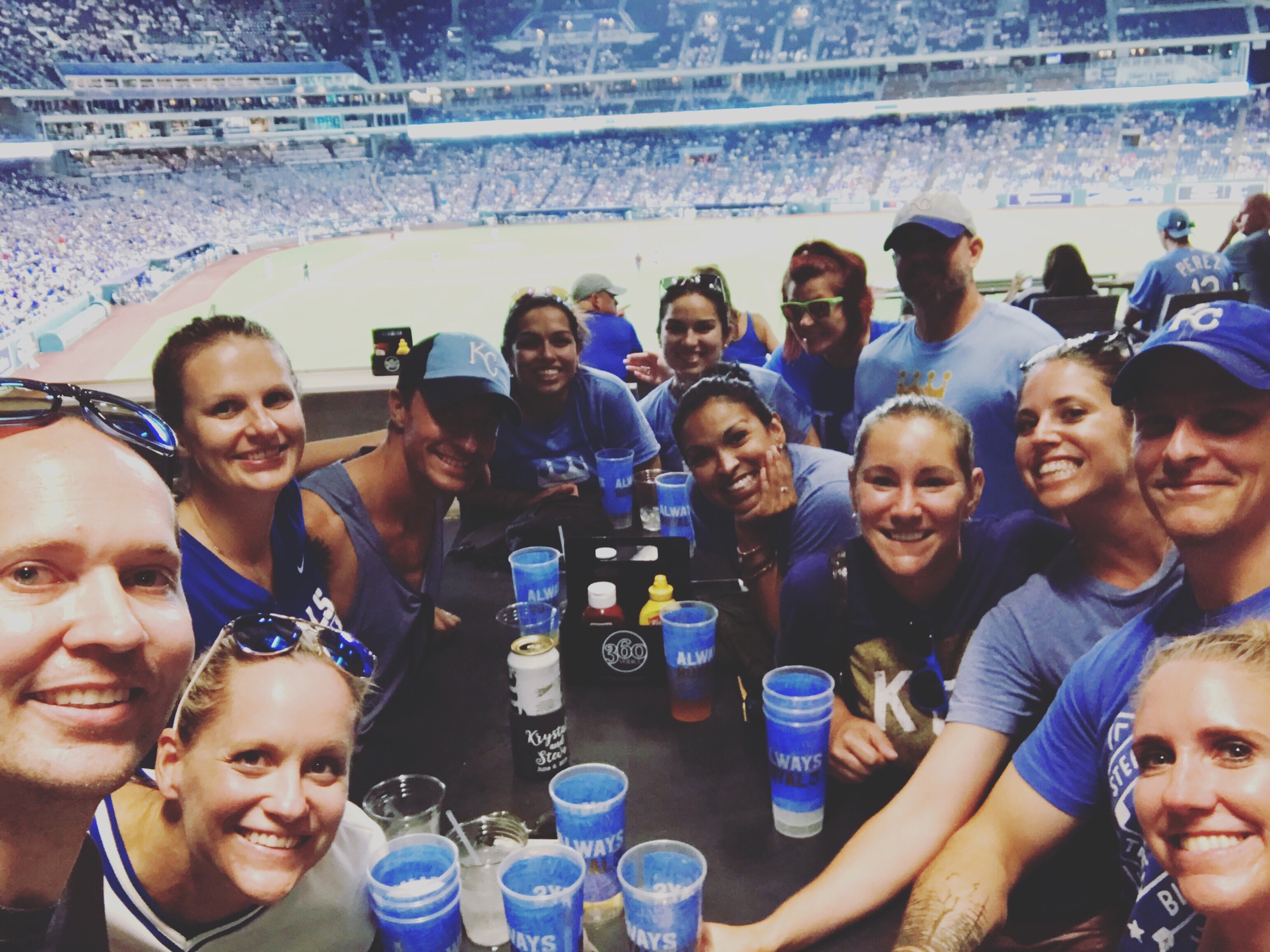 Royals lost to the Indians by 4 but we had a great time at Rivals