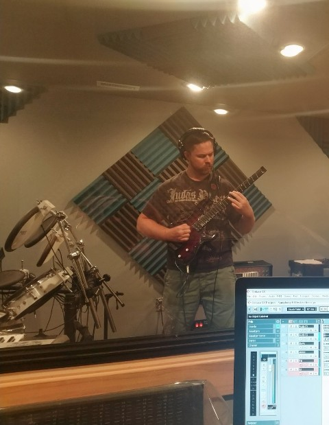 Student Erik Tomlinson of Palatine IL laying down the law in his guitar lesson recording session like a boss!!!