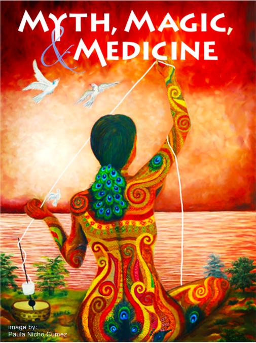 Myth, Magic, & Medicine A 4-week online class connects you to an online community dedicated to exploring the art of sacred storytelling. Gift your loved one an opportunity to explore the myths they live with, the medicine that runs through them, and the magic them make when they consciously tell stories infused with the medicine they came to give.
